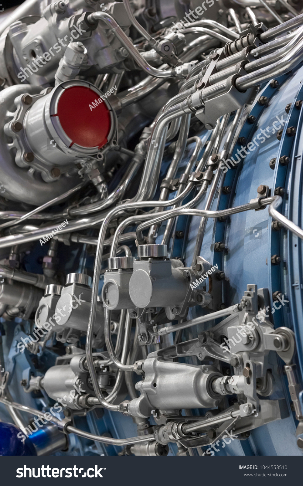 Engine Fighter Jet Internal Structure Hydraulic Stock Photo ...