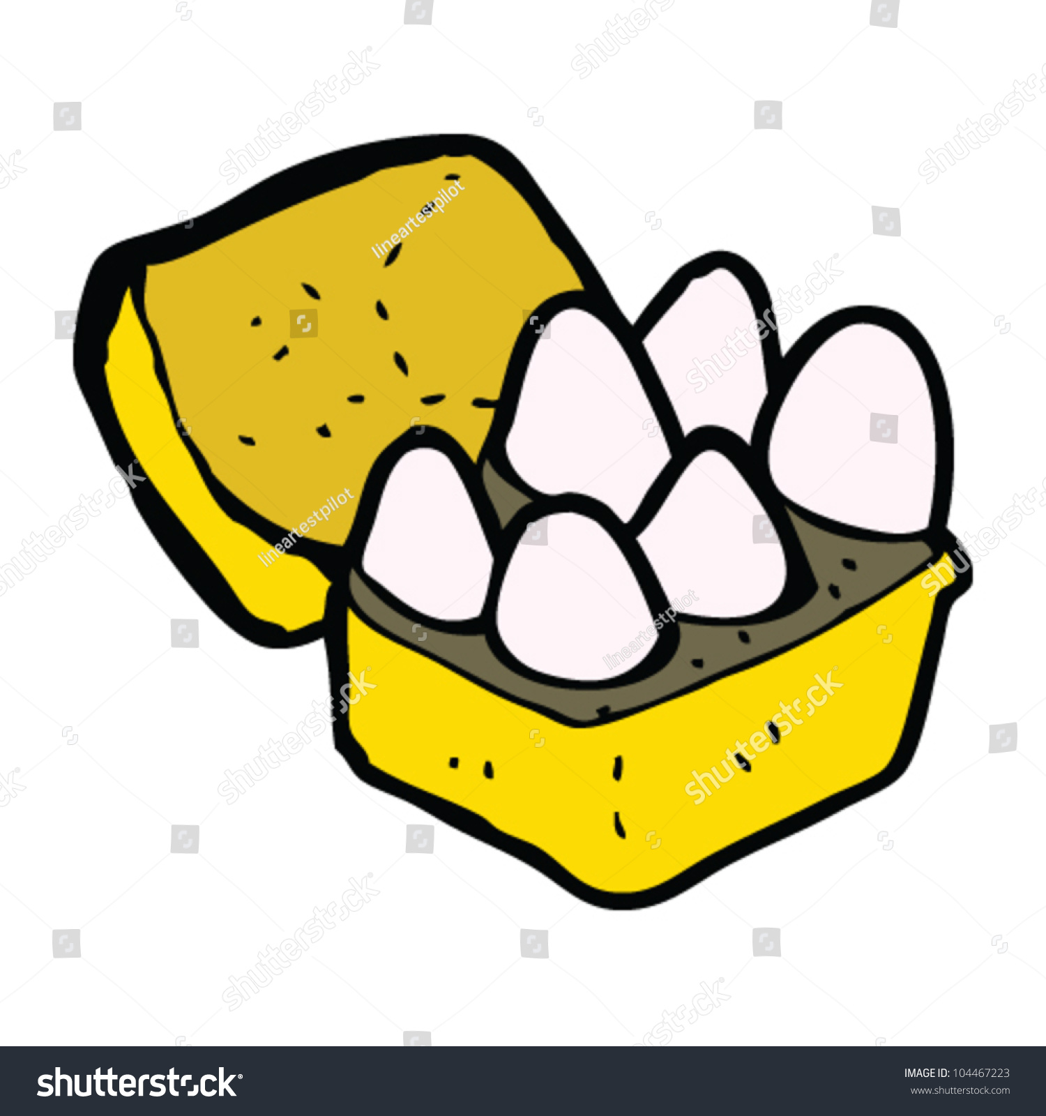 cartoon box eggs stock vector 104467223 shutterstock
