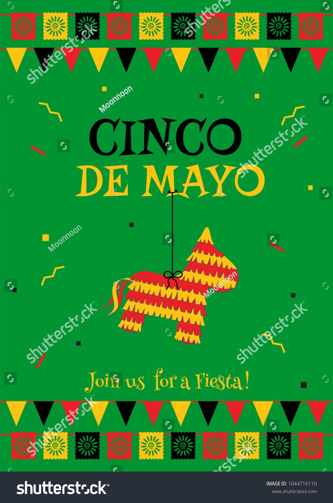 Cinco De Mayo Party Poster Template Stock Vector Royalty Free