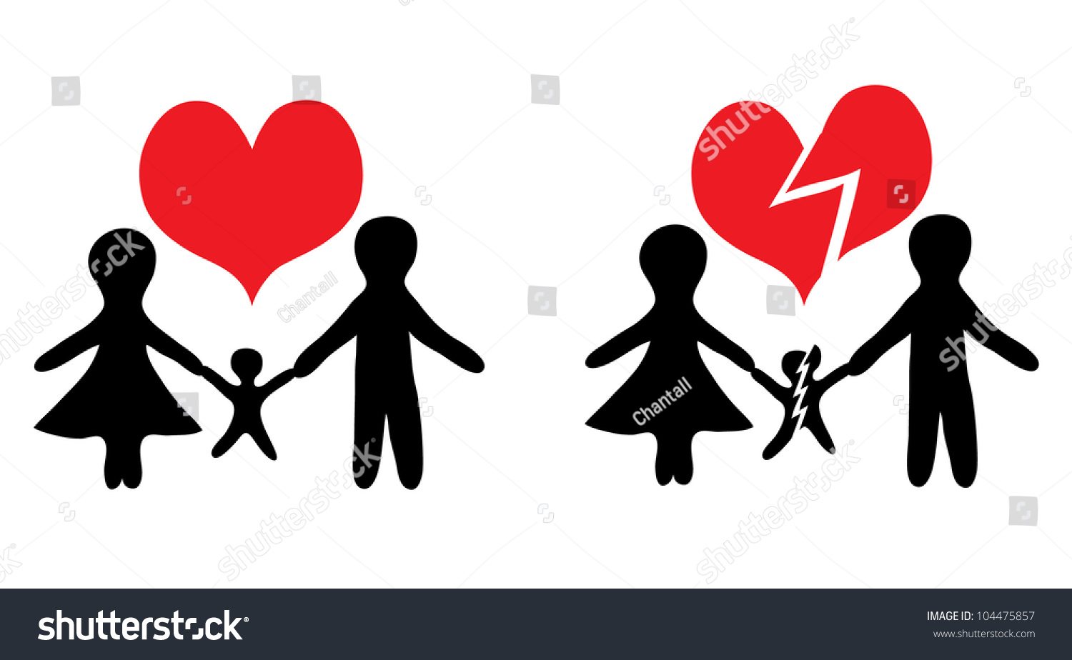 broken family A broken family -- a family in which the parents are separated or divorced -- is disruptive to your child's life no matter how carefully you protect him.