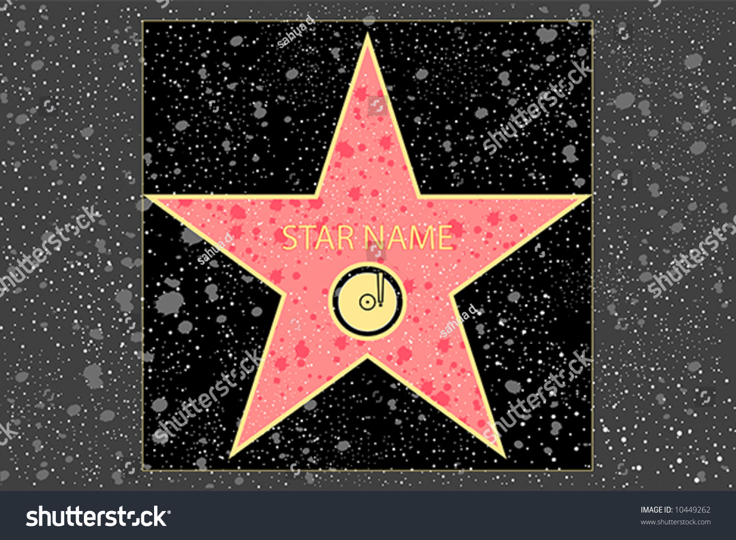 hollywood walk of fame recording star in vector