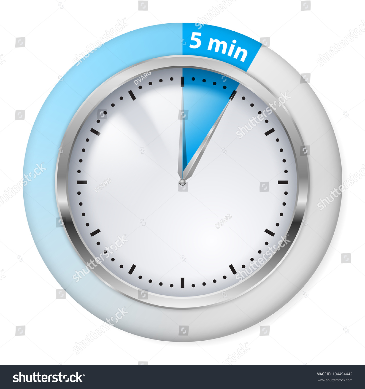 countdown timer with five minutes interval in modern style stock