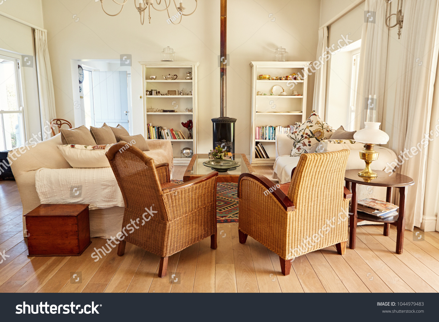 Interior Country Style Living Room Chairs Stock Photo Edit Now 1044979483