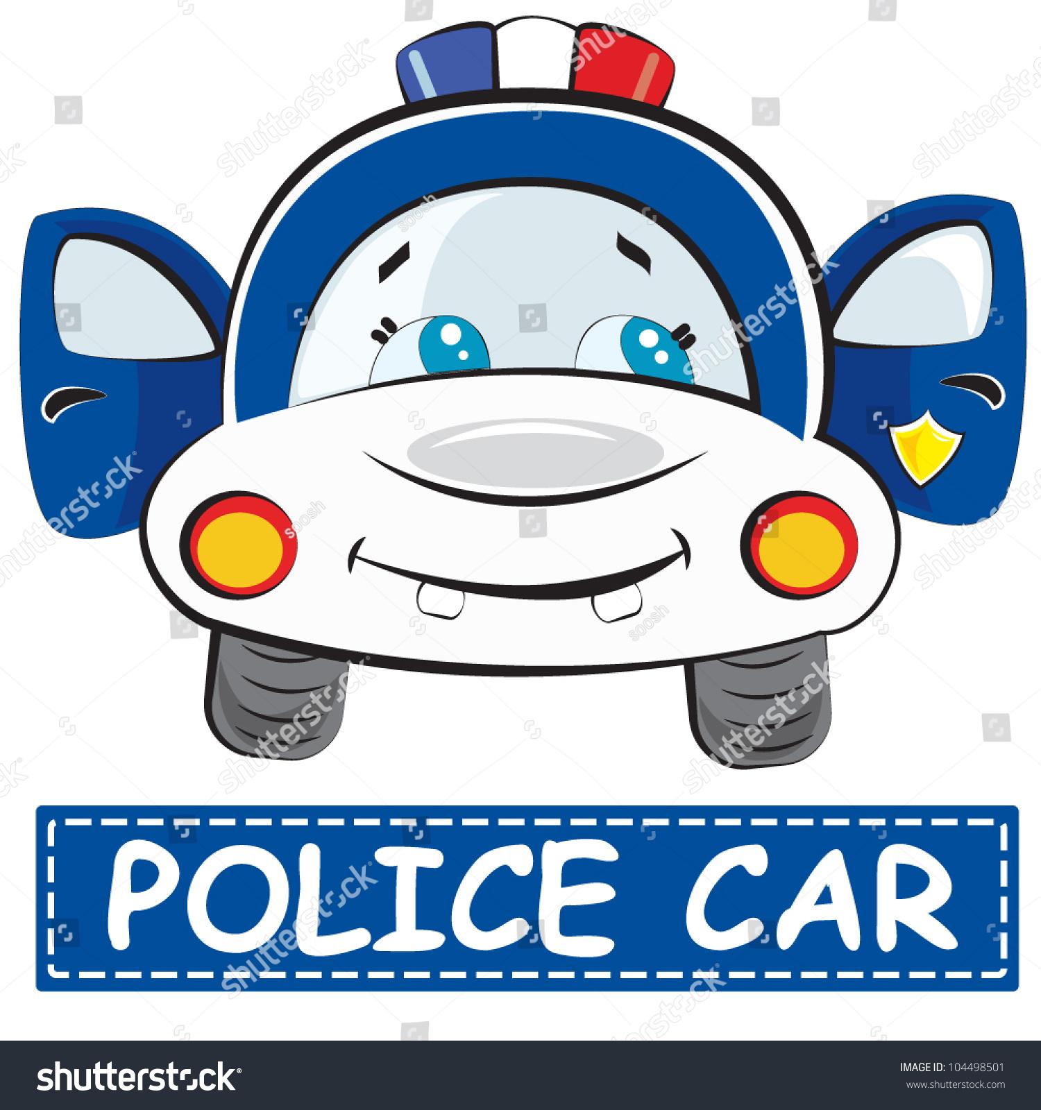 vector illustration toy car kids police stock vector 104498501