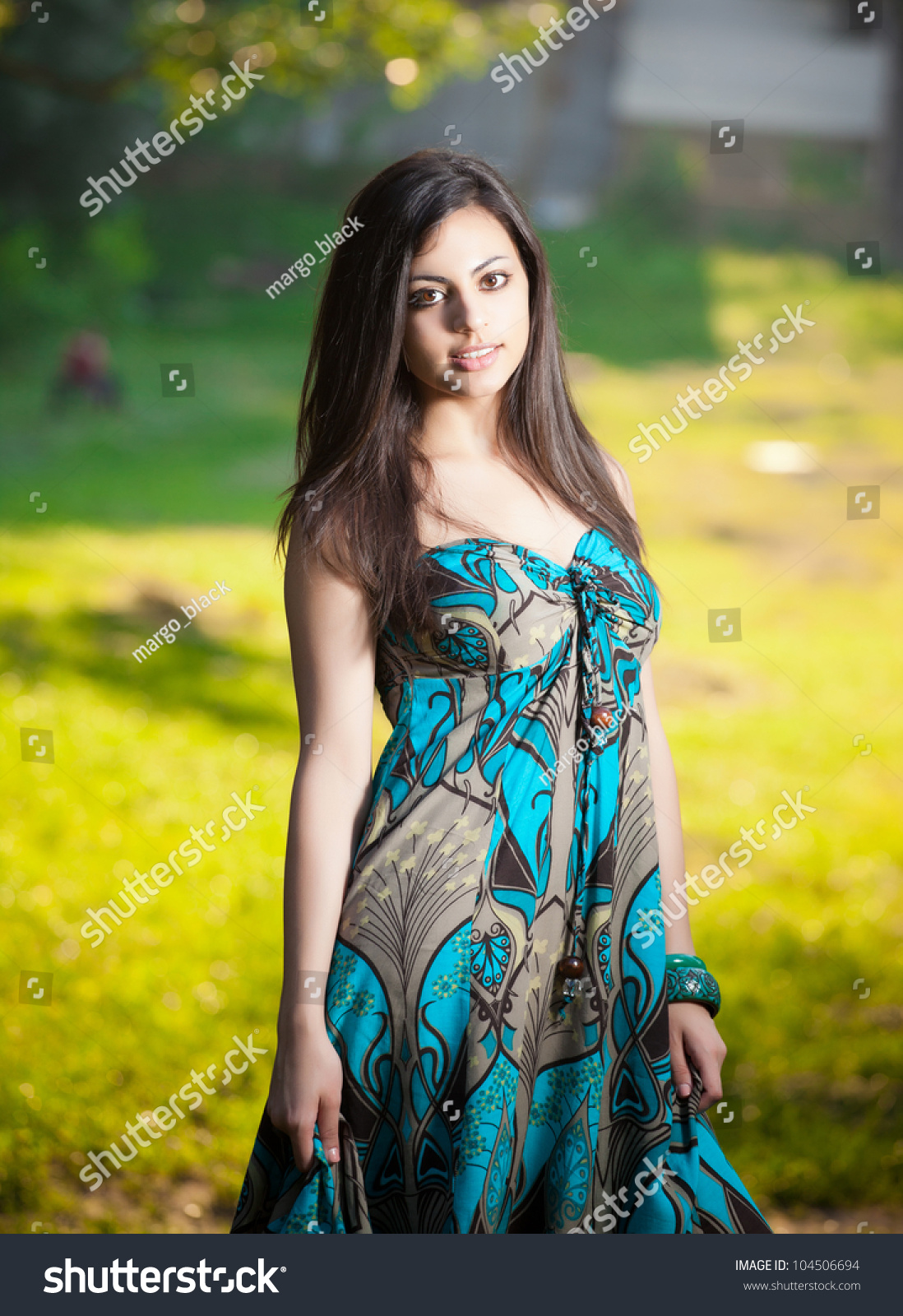 beautiful indian girl nature stock photo (royalty free) 104506694