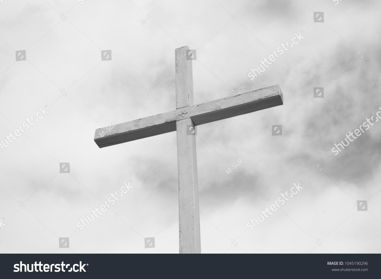 Wooden Cross Religious Symbol Christianity Christian Stock Photo