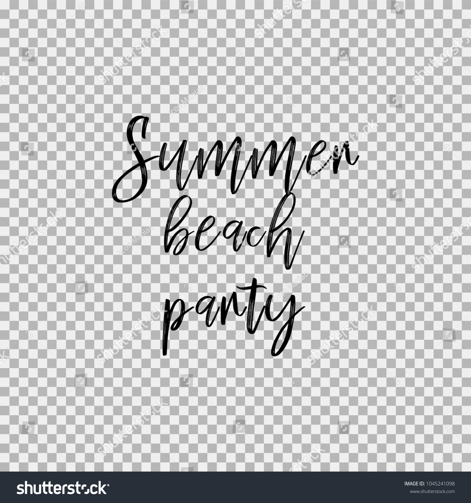 Summer Beach Party Inspirational Quotes About Stock Vector Royalty