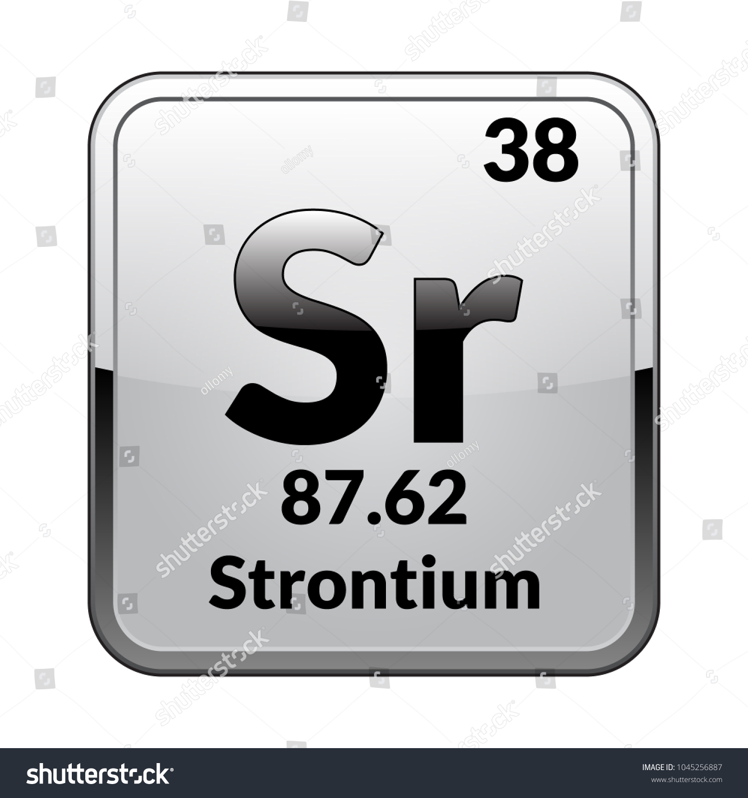 Strontium Symbol Chemical Element Periodic Table On Stock Vector