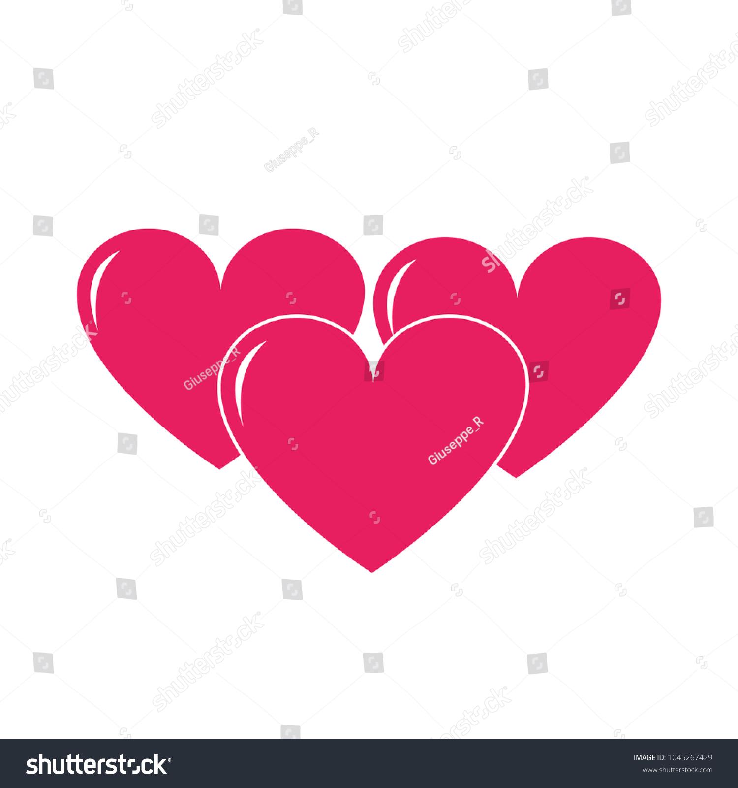 Colorful Hearts Love Symbol Passion Design Stock Photo Photo