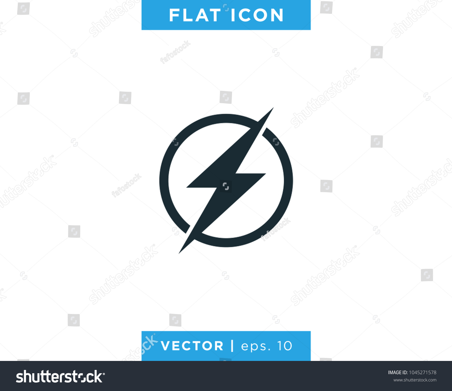 Lightning Bolt Flash Thunder Circle Icon Stock Vector 1045271578 ... for Lightning Logo In Circle  35fsj