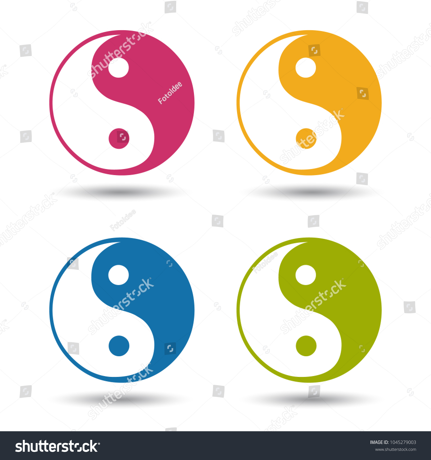 Yin yang symbol colourful vector icons stock vector 1045279003 yin yang symbol colourful vector icons isolated on white background biocorpaavc Gallery