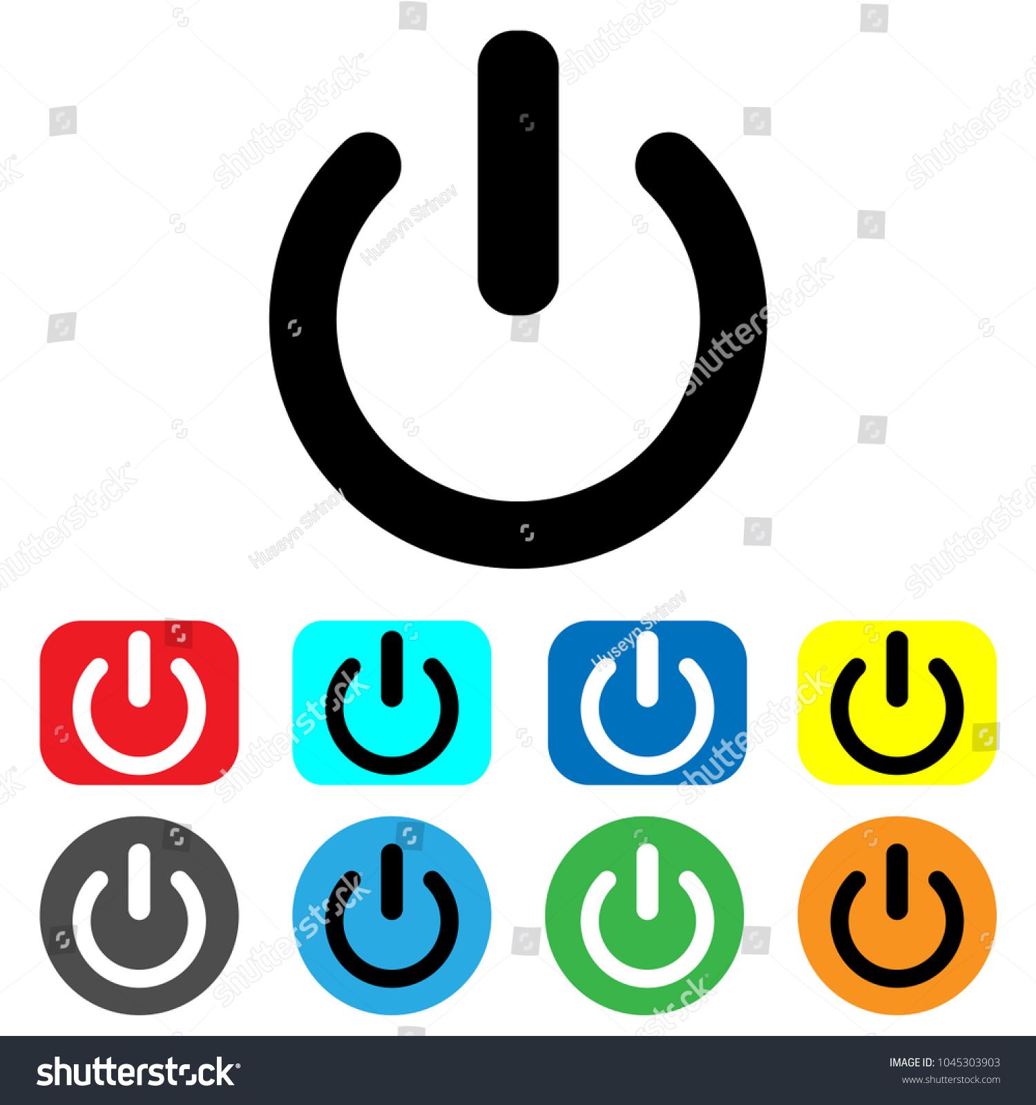 Shutdown icon vector power icon onoff stock vector 1045303903 shutdown icon vector power icon onoff switch shut down symbol biocorpaavc Images