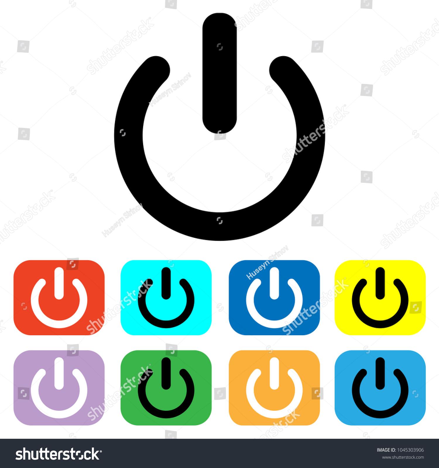 Shutdown Icon Vector Power Icon On Off Stock-Vektorgrafik 1045303906 ...