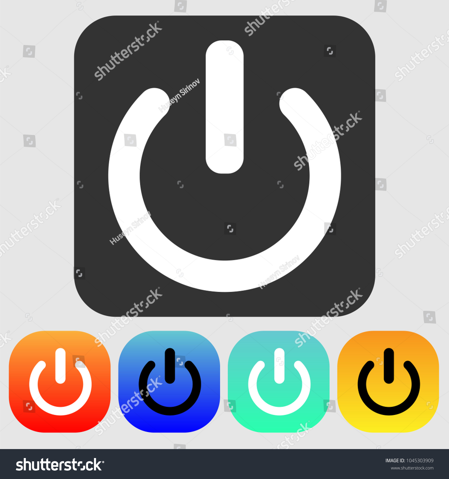Shutdown Icon Vector Power Icon On Off Stock Vector (Royalty Free ...