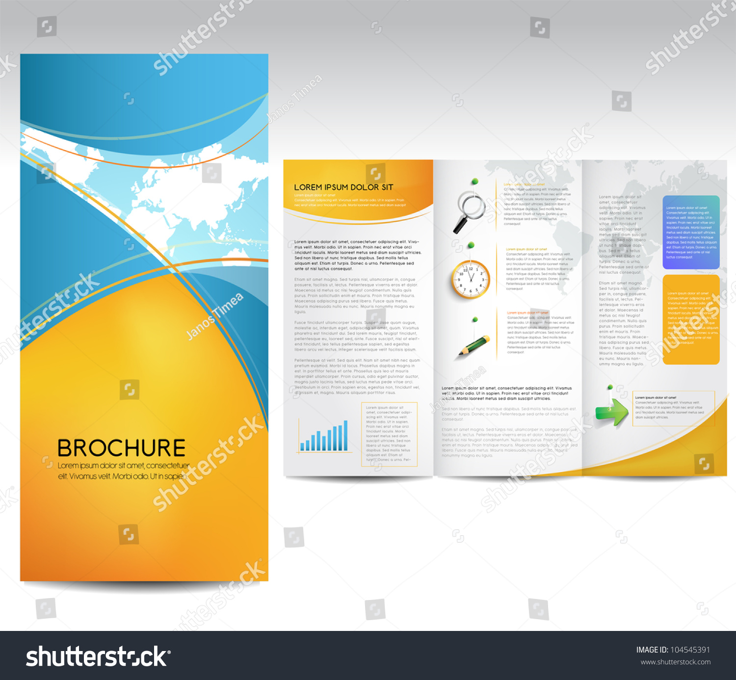 Vector brochure layout design template stock vector for Brochure background templates