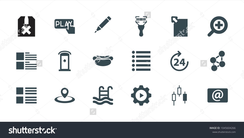 Interface icons set 18 editable filled stock vector 1045604266 interface icons set of 18 editable filled interface icons 24 hours menu buycottarizona Choice Image