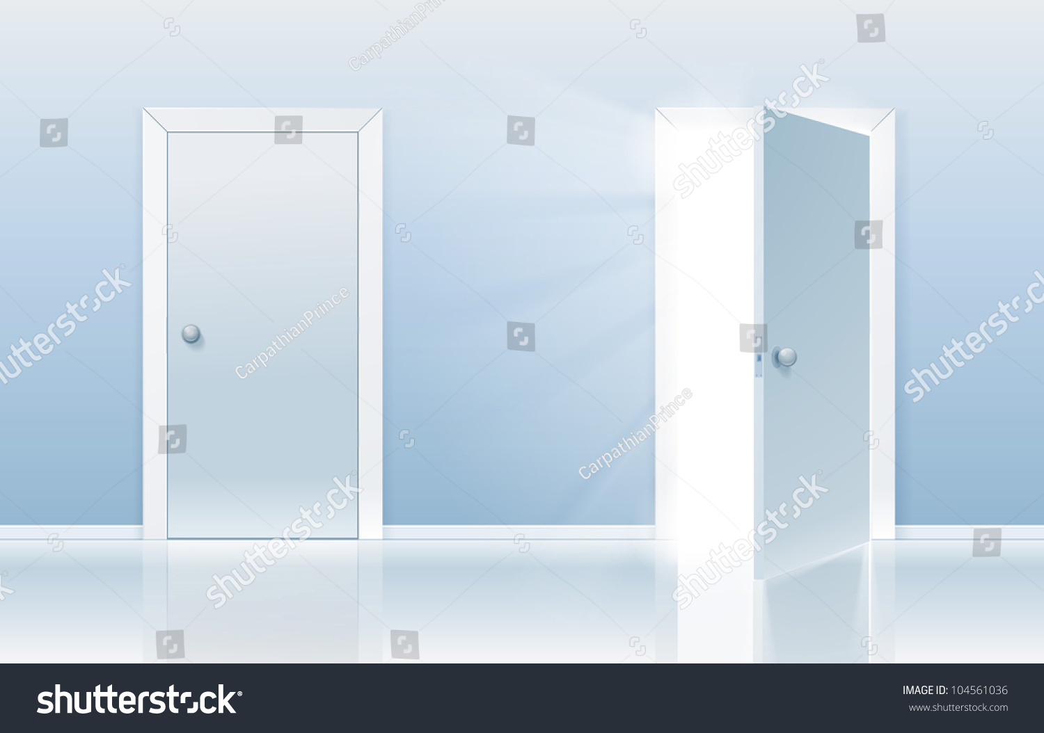 Open door closed door - Open And Closed Door Concept One Door Is Closed And The Other One Is Opening