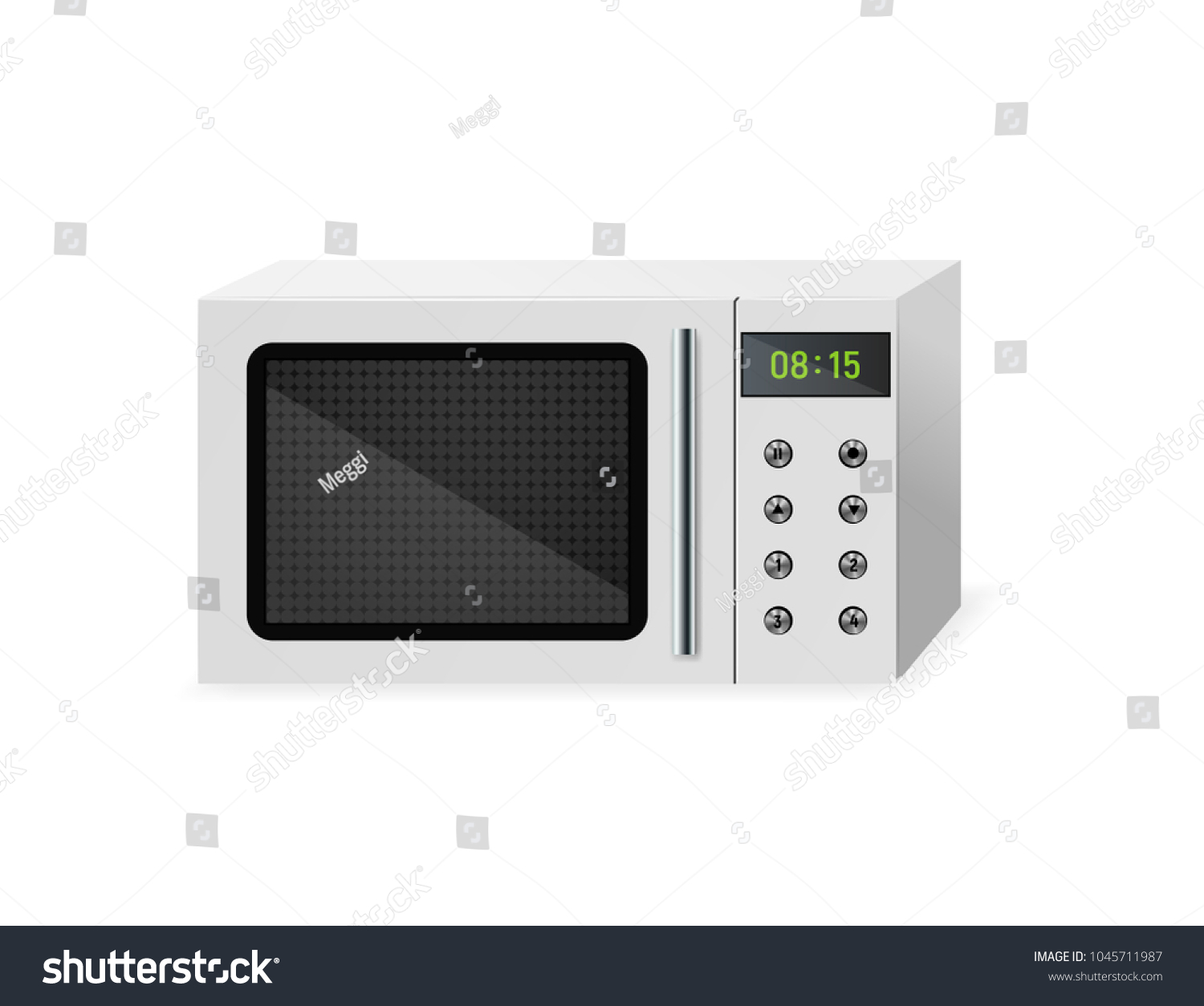 Microwave Household Electrical Equipment Vector Illustration Stock ...