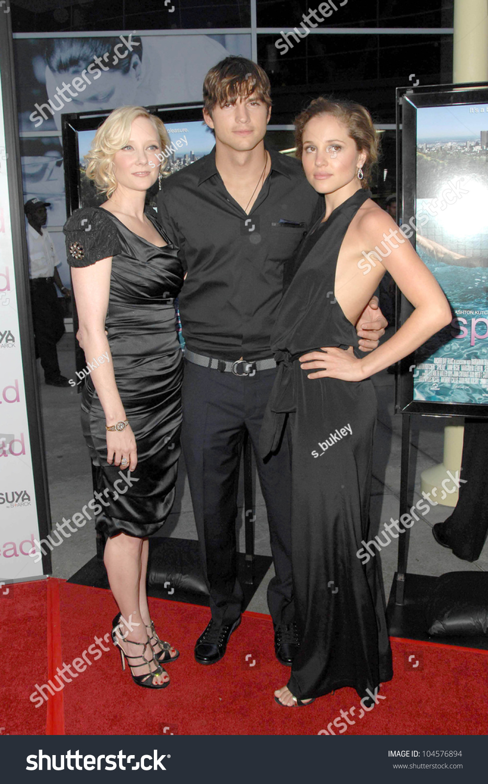 Anne Heche With Ashton Kutcher And Margarita Levieva At