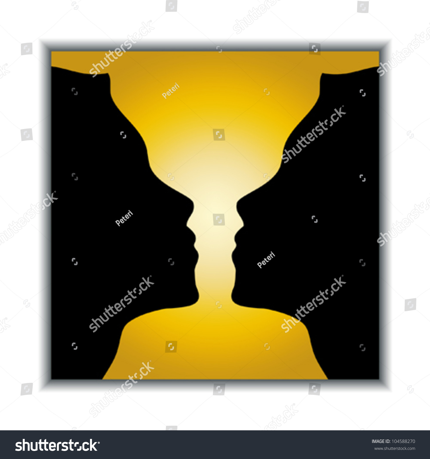Optical illusion holy grail two vector stock vector 104588270 holy grail or two girls vector illustration reviewsmspy