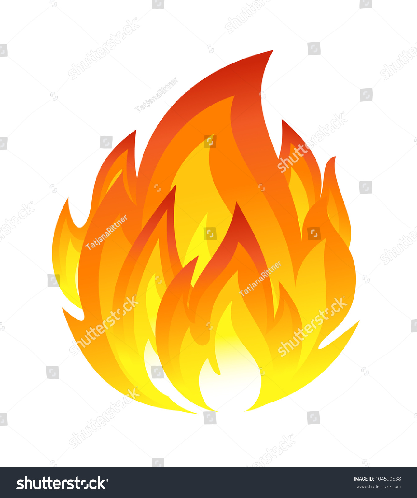 Free Silhouette Images Symbol Fire Stock Vector 104590538 Shutterstock