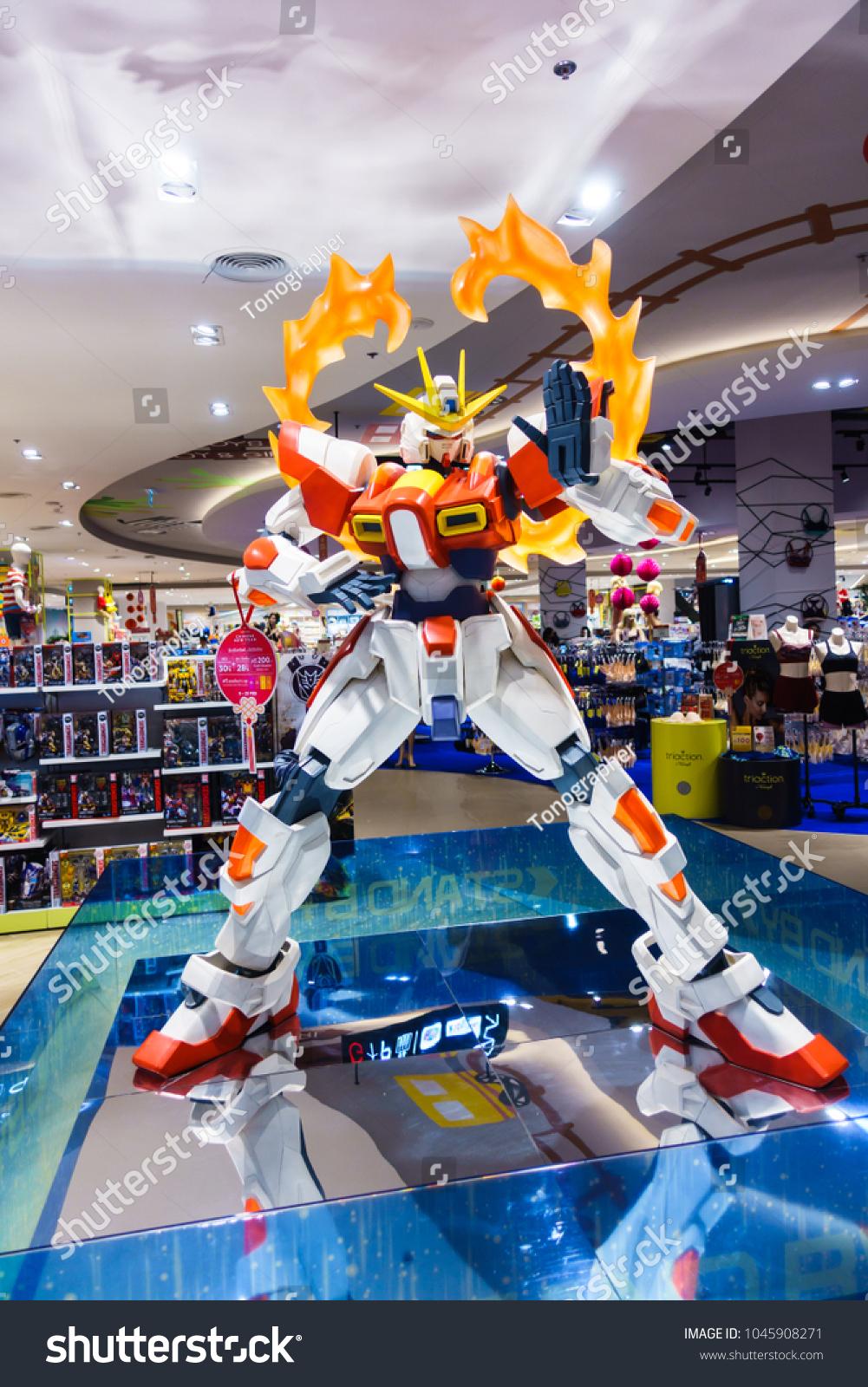 Nakonratchasima Thailand 02 February 2018 Bandai Stock Photo Edit Try Burning Gundam Hobby Build