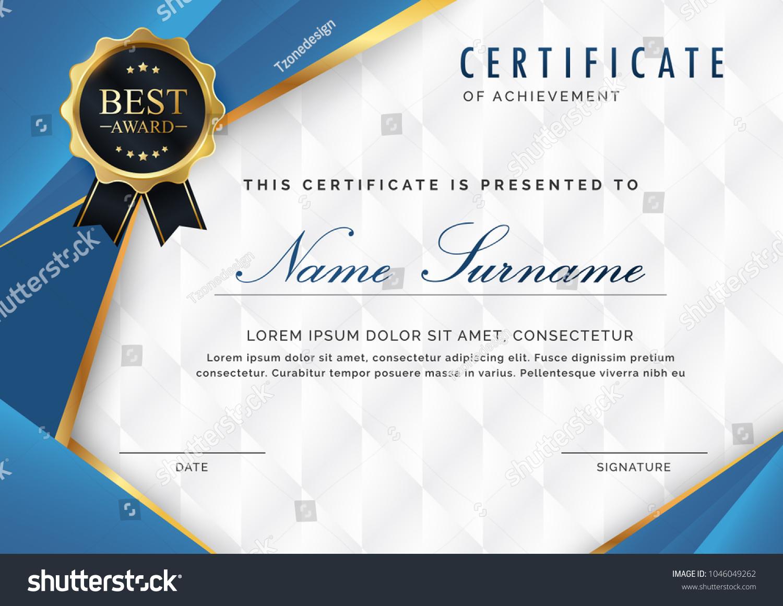 certificate template luxury modern pattern appreciation stock vector