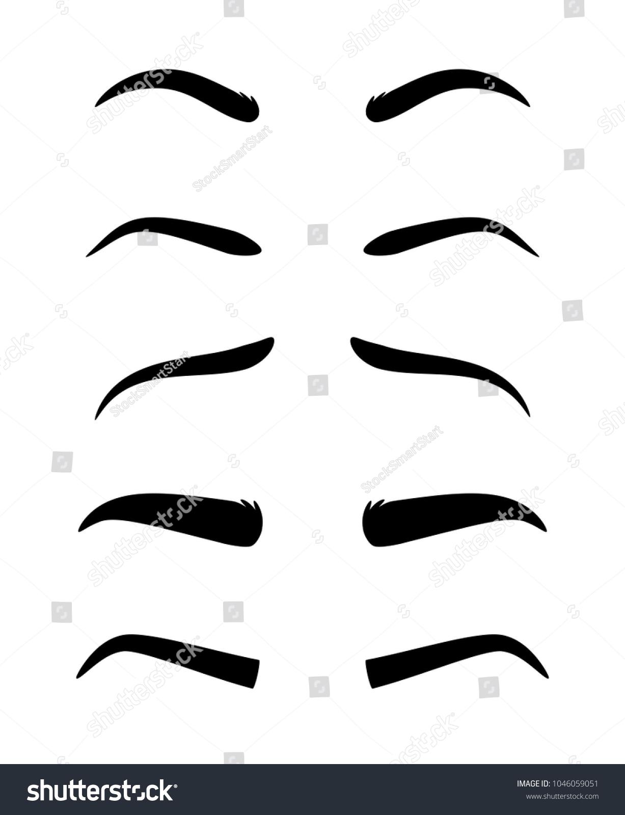 Eyebrows Vector Dark Eyebrow Model Set Stock Vector Royalty Free