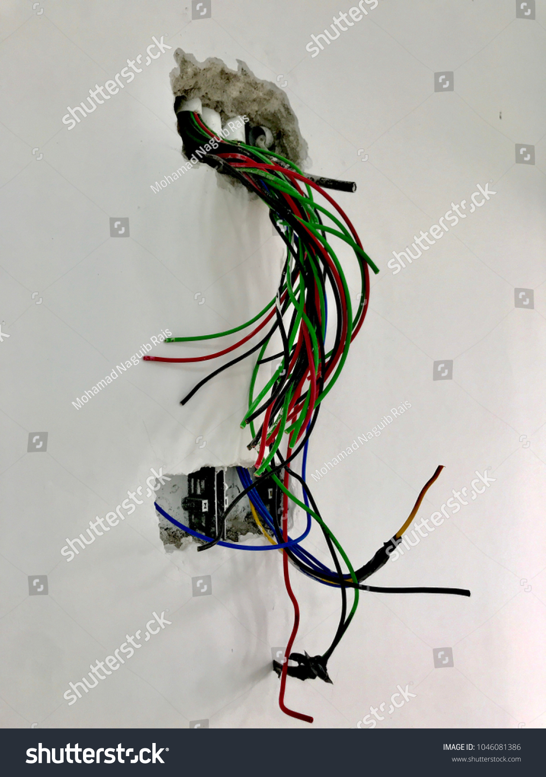 Earth Ground Life Neutral Wires Tangled Stock Photo (Royalty Free ...