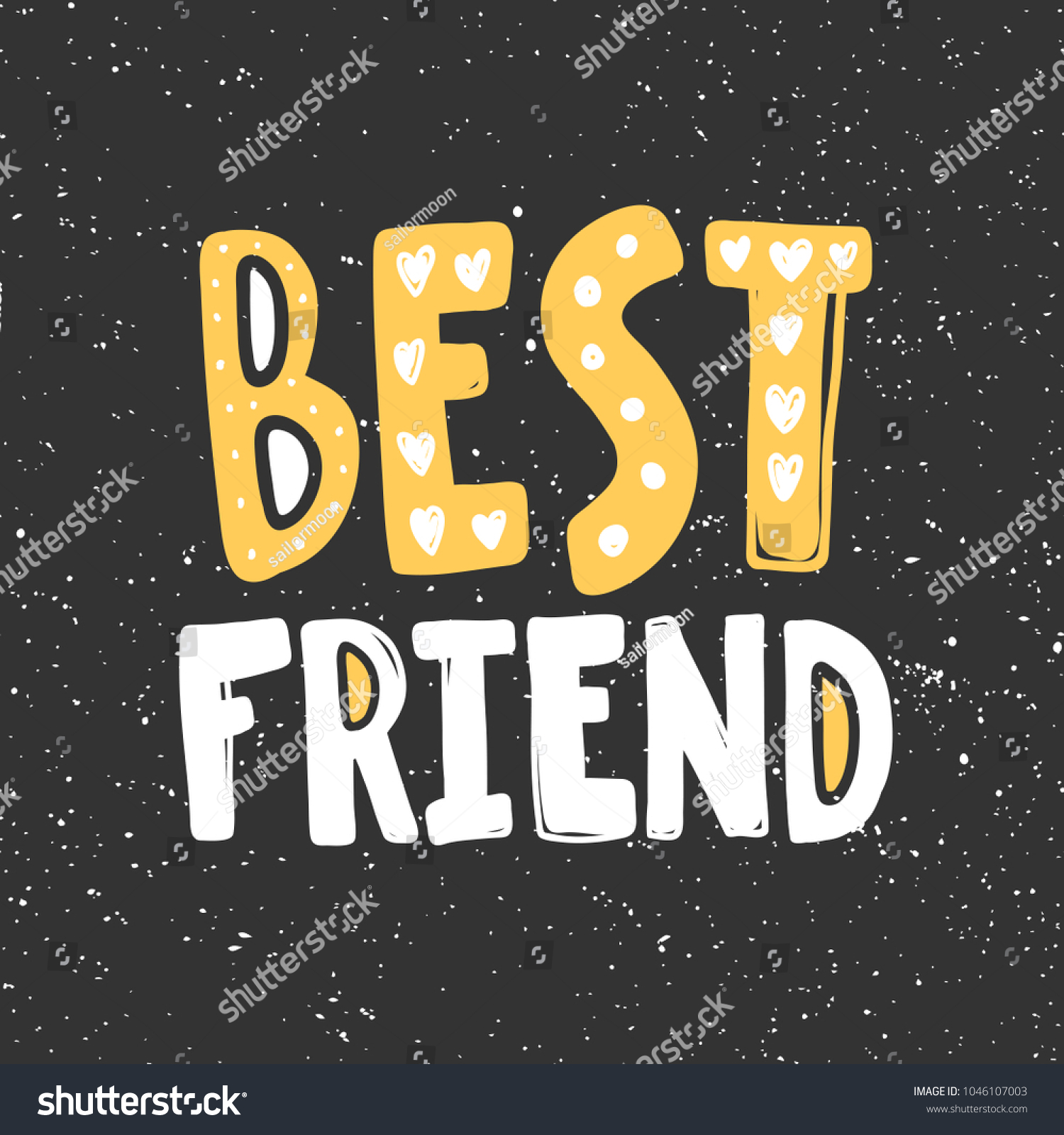 best friend typography lettering calligraphy doodle cartoon text scratched banner hand drawn t