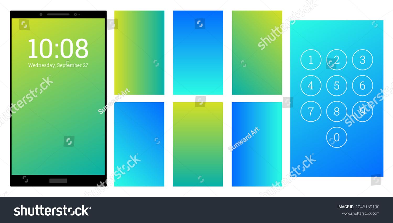 Good Wallpaper Home Screen Bright - stock-vector-bright-colors-gradient-screen-backgrounds-set-blue-and-green-numpad-and-screensaver-kit-vector-1046139190  HD_97913.jpg
