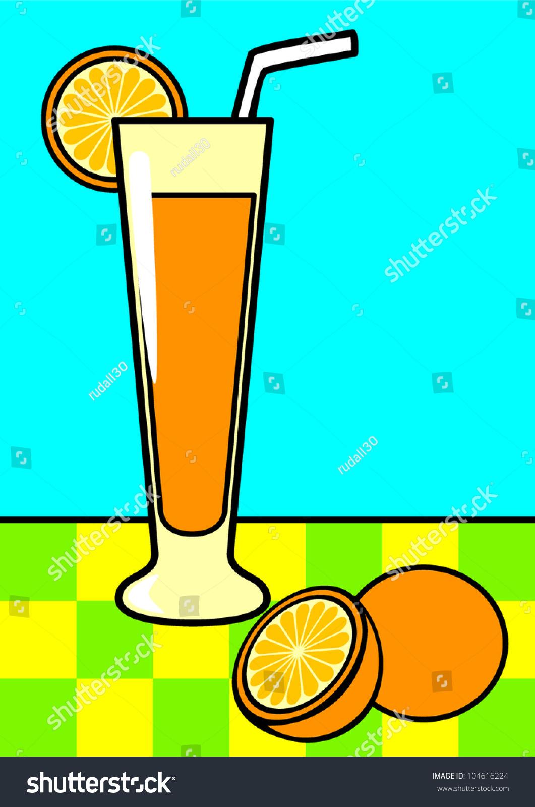 Line Art Juice : Line art illustration glass orange juice stock vector