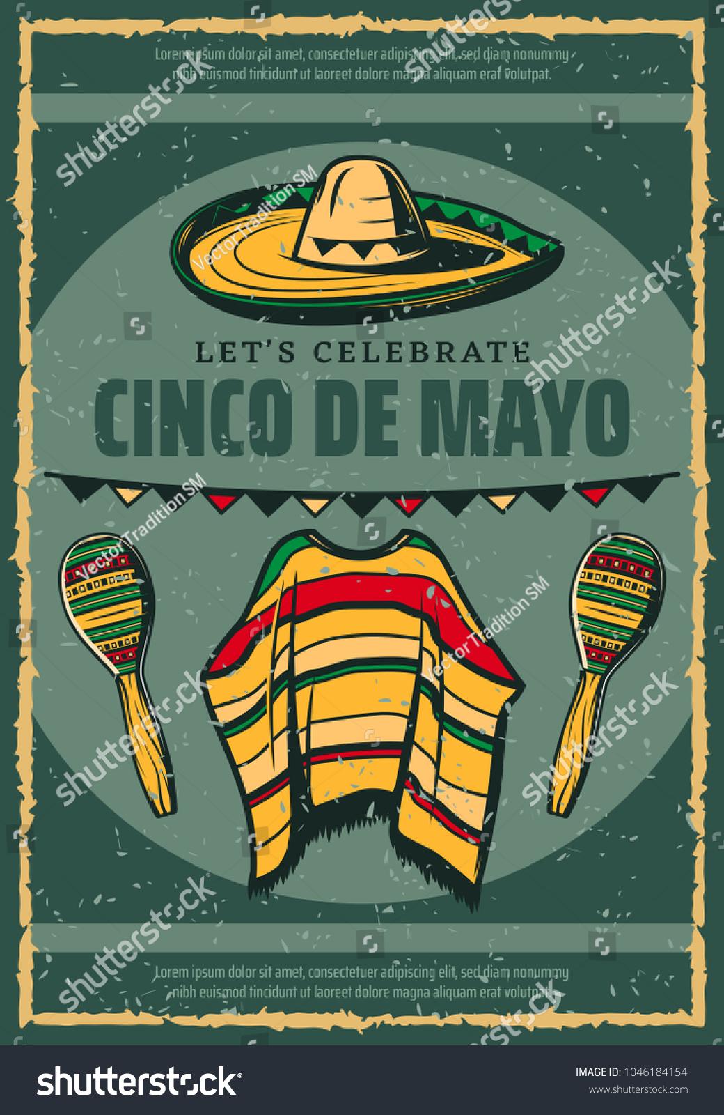 Cinco De Mayo Mexican Holiday Celebration Stock Vector Royalty Free