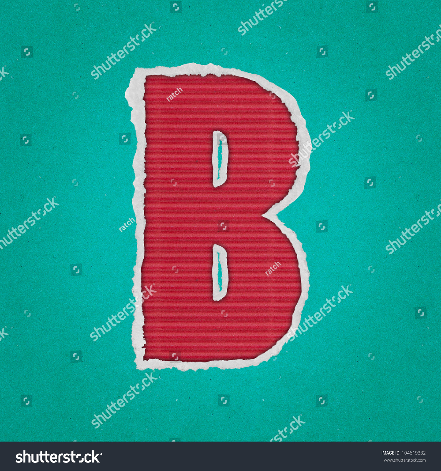 English Alphabet Latters Cut Out On Stock Illustration 104619332 ...