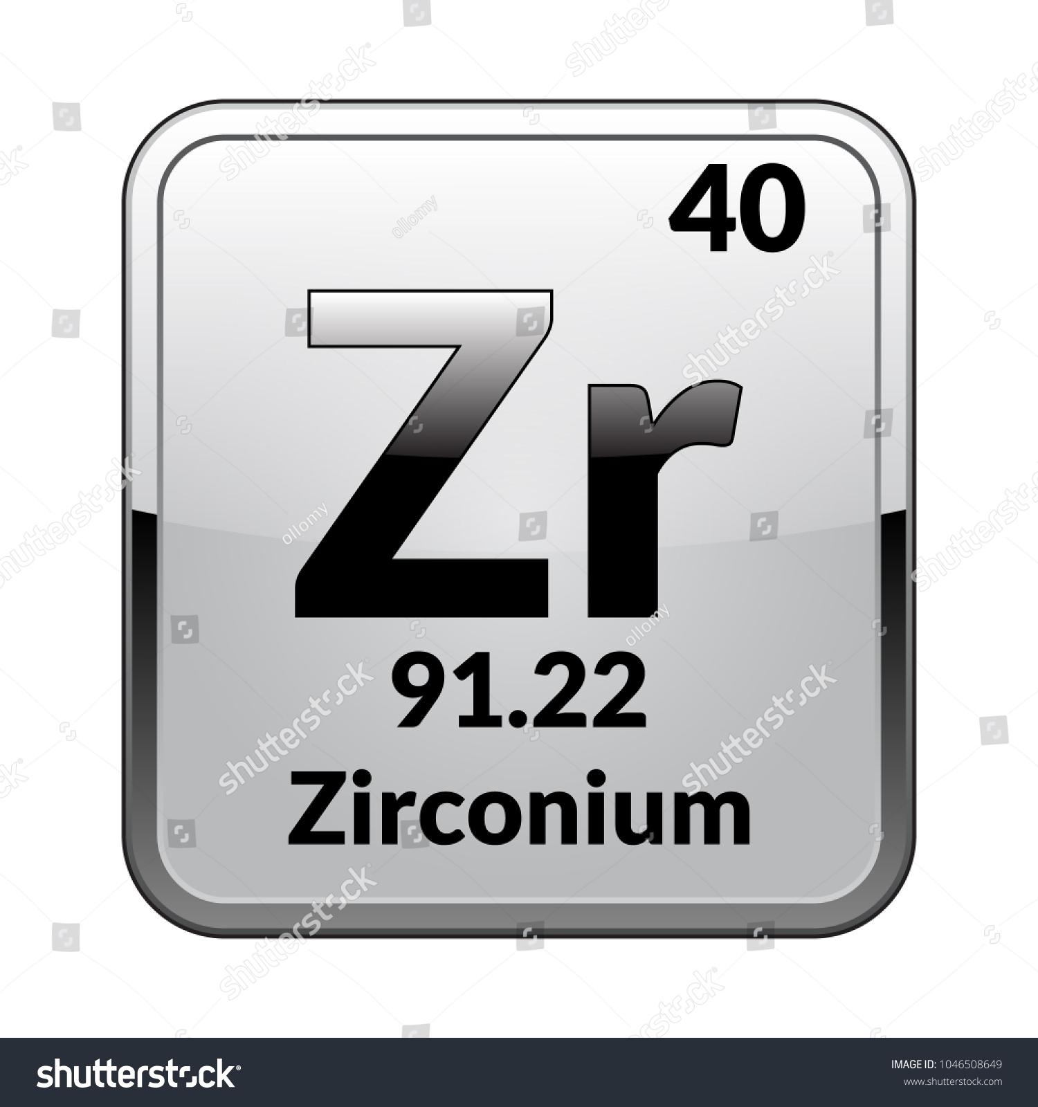 Zirconium symbolchemical element periodic table on stock vector zirconium symbolemical element of the periodic table on a glossy white background in a biocorpaavc Gallery