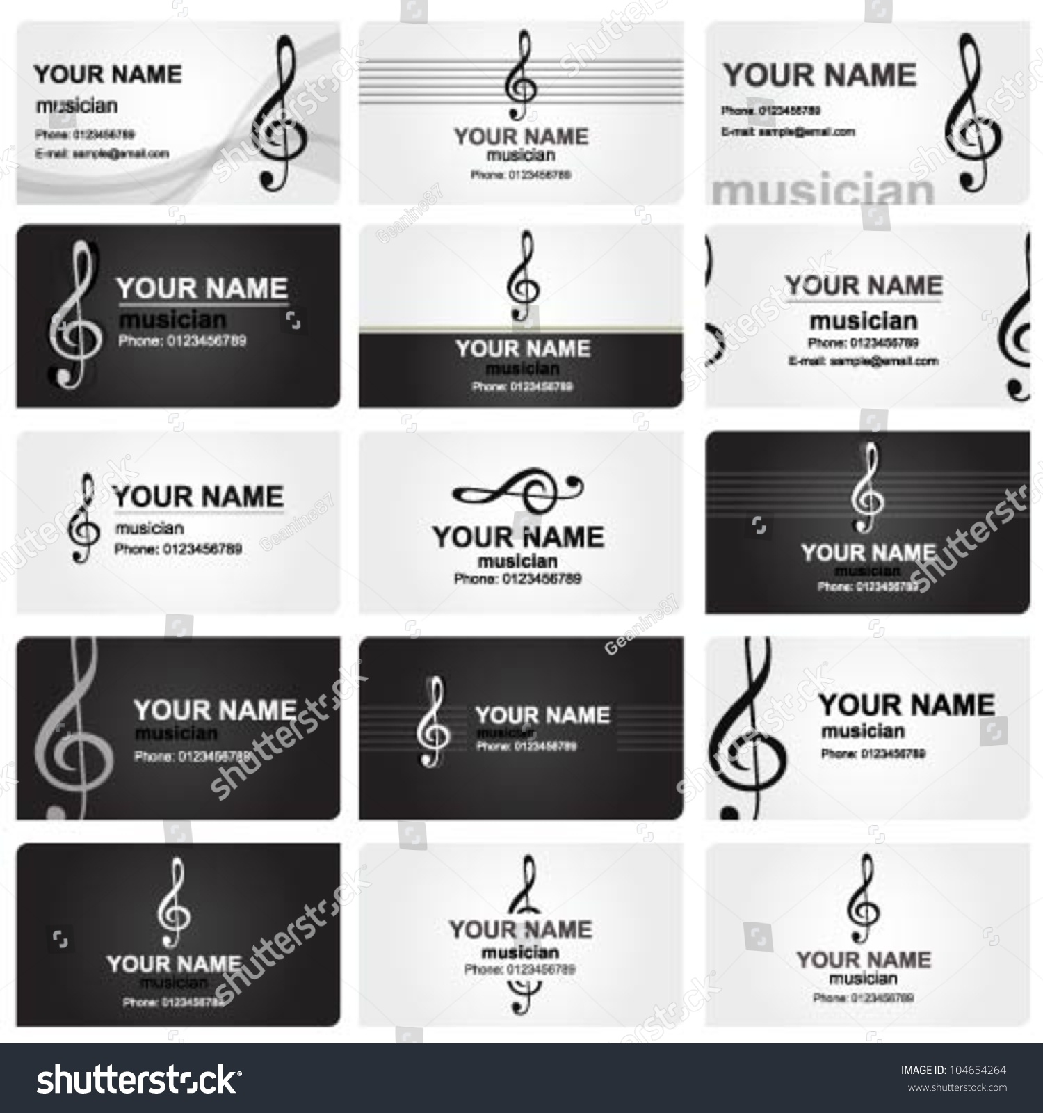 Vector Set Various Professional Business Cards Stock Vector ...