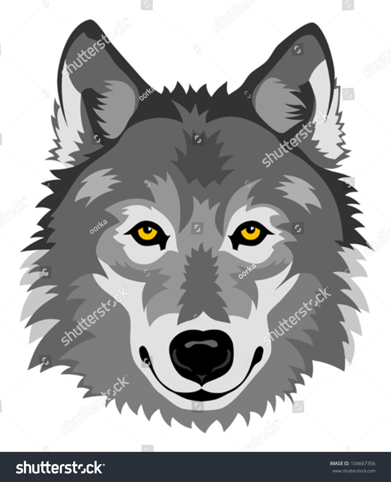 Animated wolf head wolf head stock photos images amp pictures