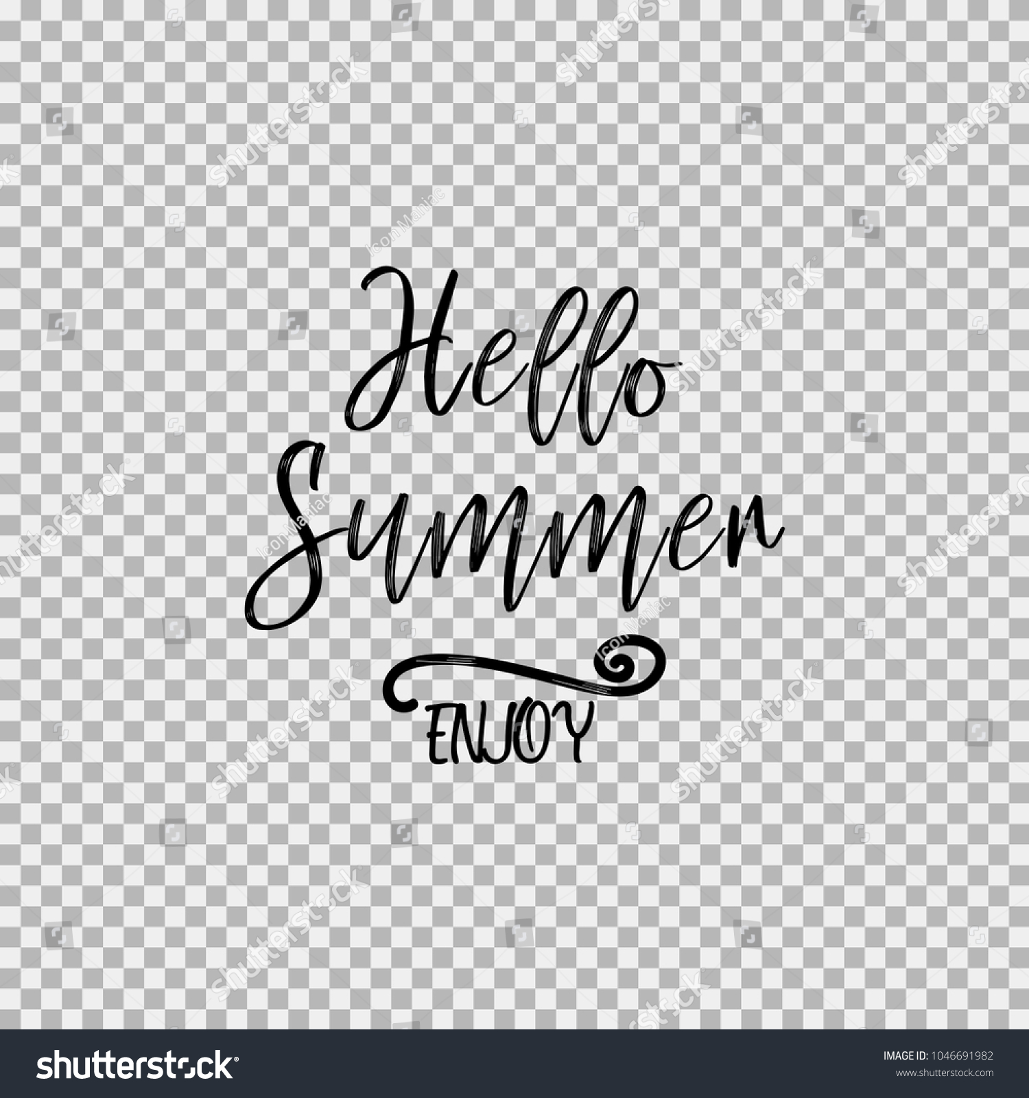 Hello Summer Enjoy Inspirational Quotes About Stock Vector