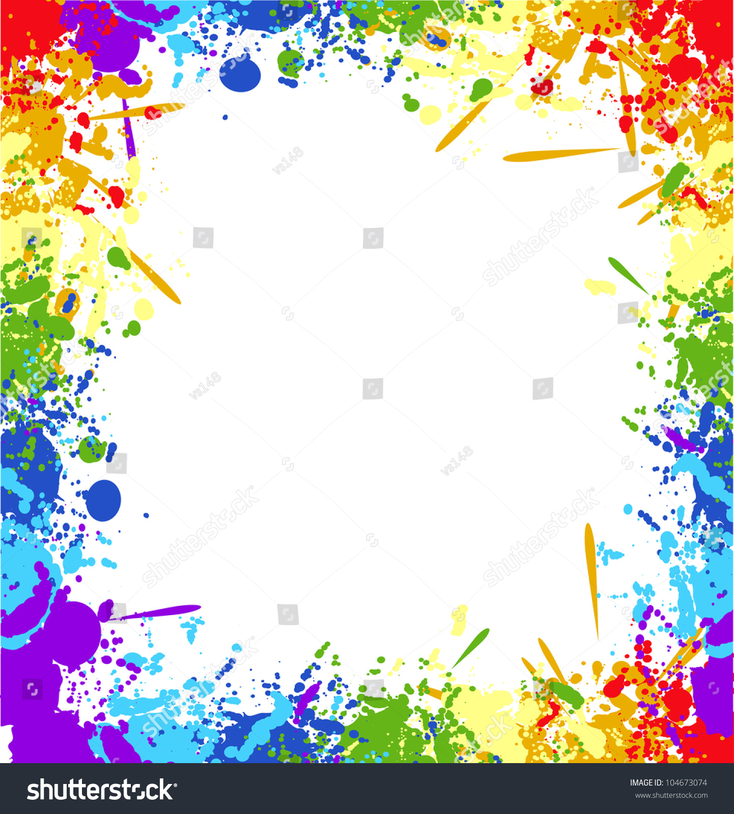 Color Rainbow Paint Splashes Background Vector Stock ...