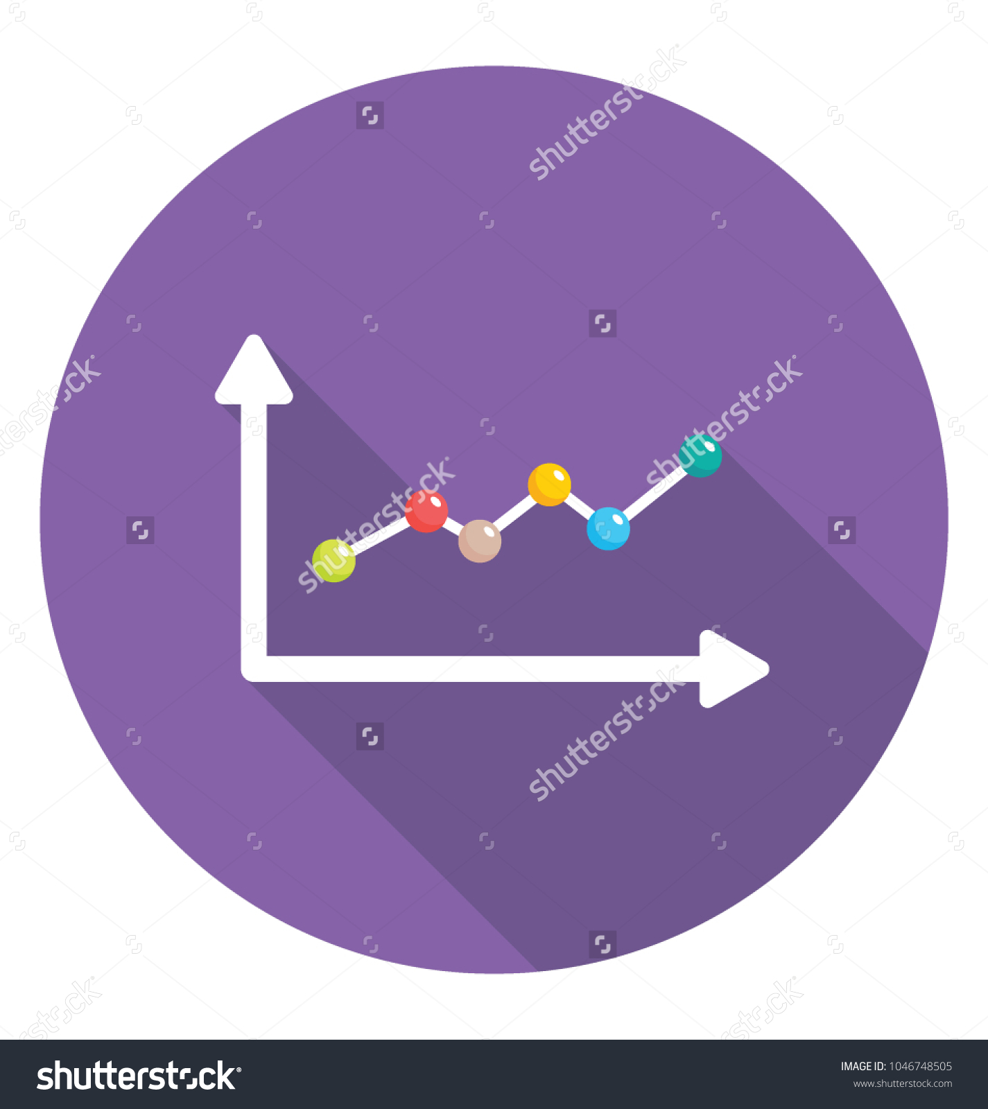 A growing dotted line graph showing stock vector 1046748505 a growing dotted line graph showing the progress geenschuldenfo Gallery