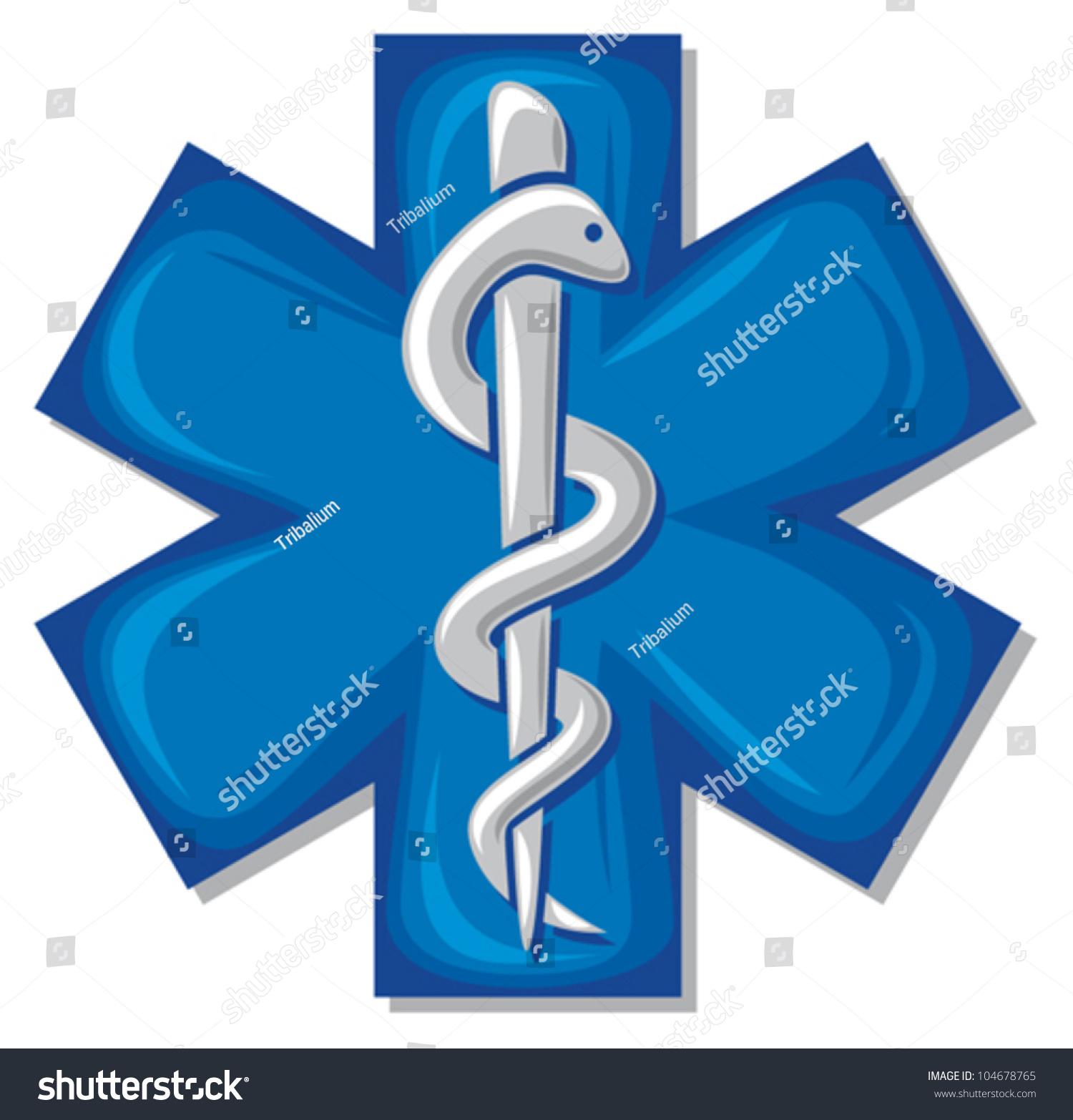 Medical Symbol Caduceus Snake Stick Emblem Stock Vector Royalty