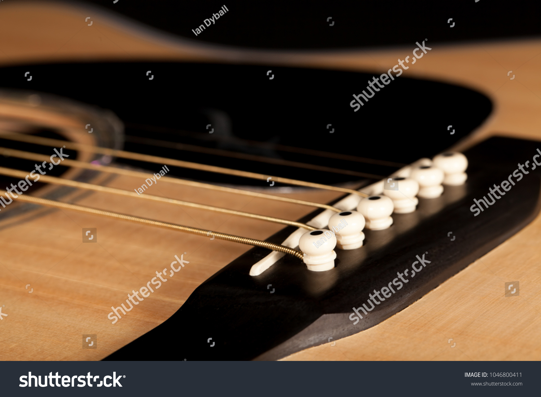 Acoustic Guitar Blackwood Bridge Pin Pegs Stock Photo (Royalty Free ...