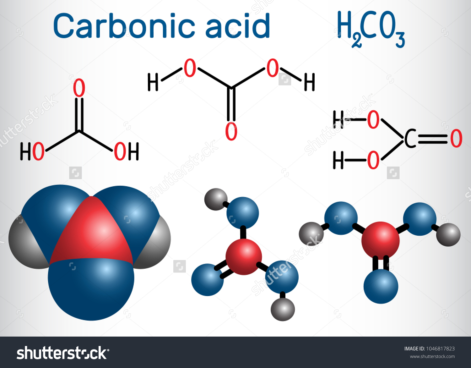 Carbonic acid h2co3 molecule solution carbon stock vector it is also solution of carbon dioxide in water pooptronica Images