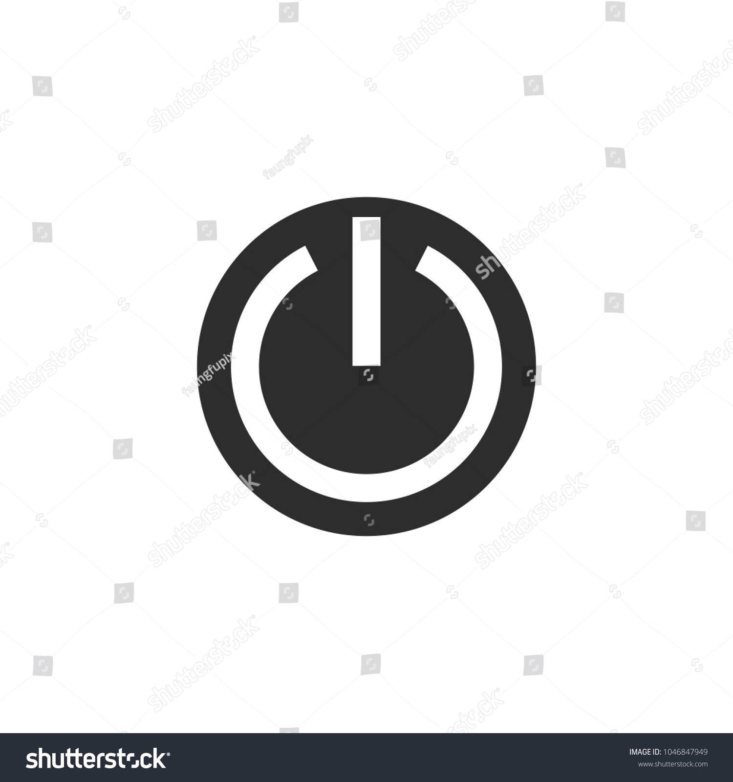 On Off Switch Icon Power Symbol Vector Stock Vector (Royalty Free ...