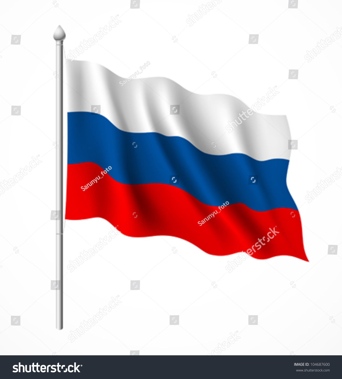 russia flag vector illustration stock vector 104687600 shutterstock