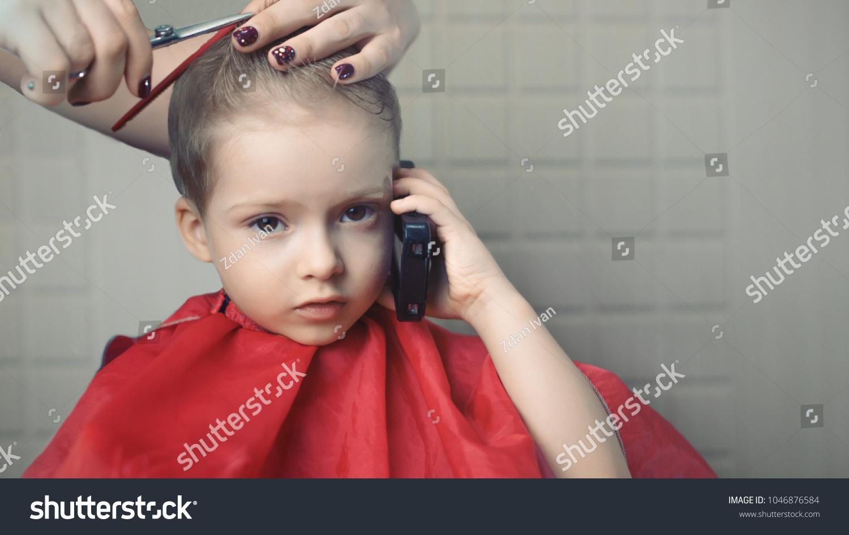 Childrens Haircut Hair Salon Children Stock Photo Edit Now