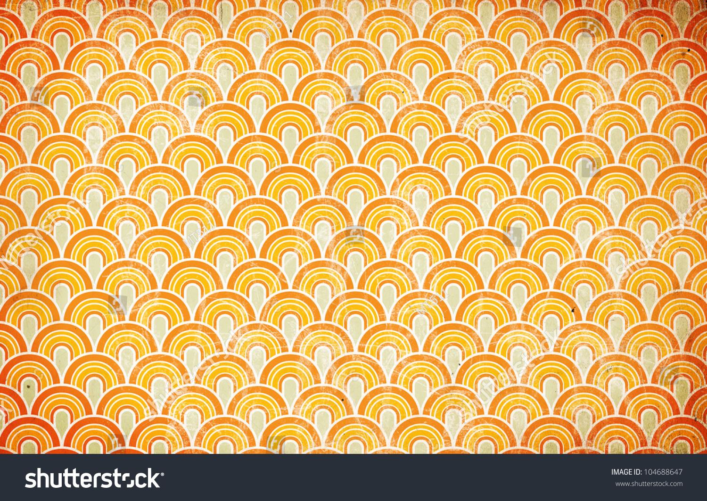 1970s壁紙 レトログランジサークル のイラスト素材 104688647