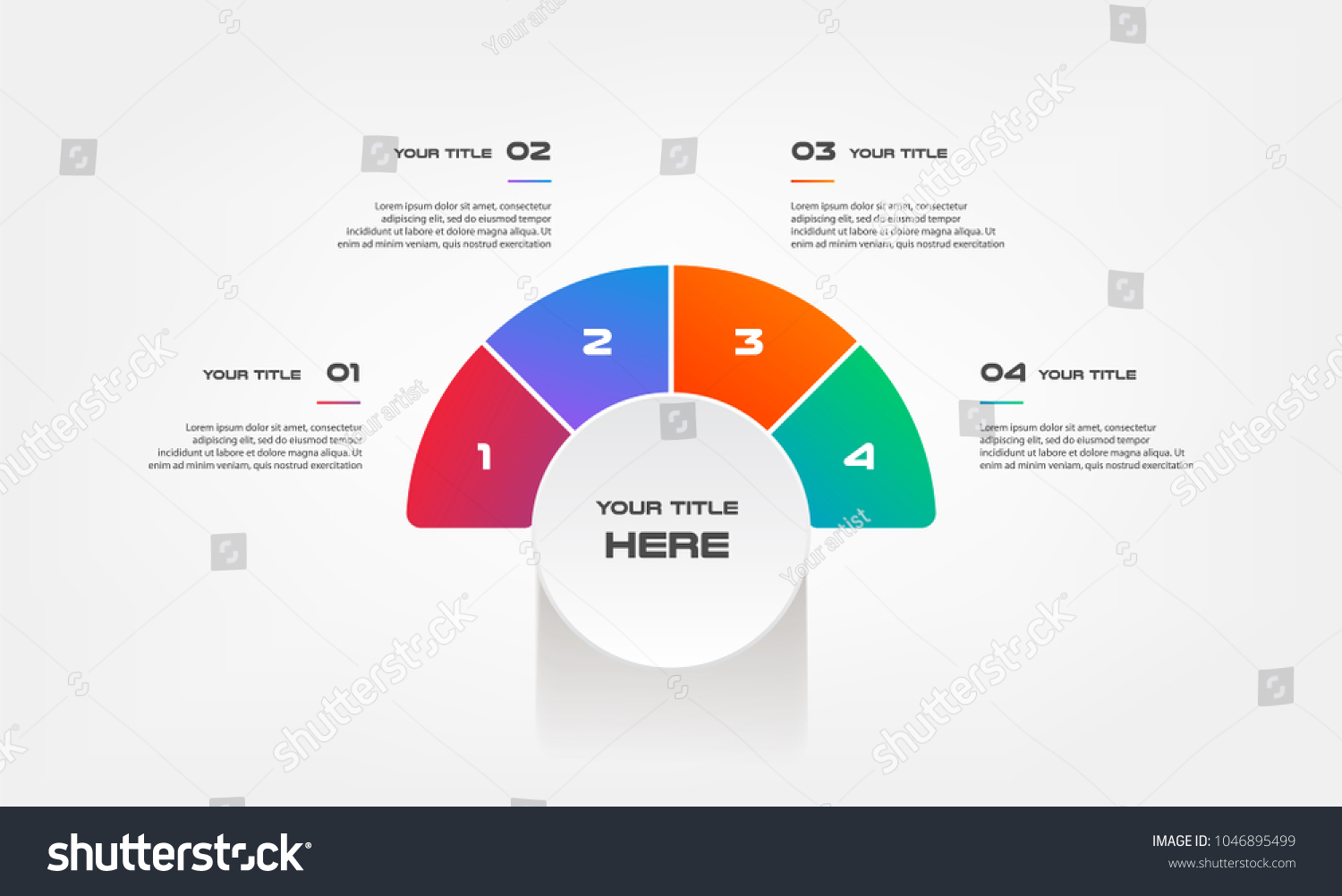 Pie chart percentage infographics element graph stock vector pie chart of percentage infographics element of graph diagram with 4 options parts nvjuhfo Image collections