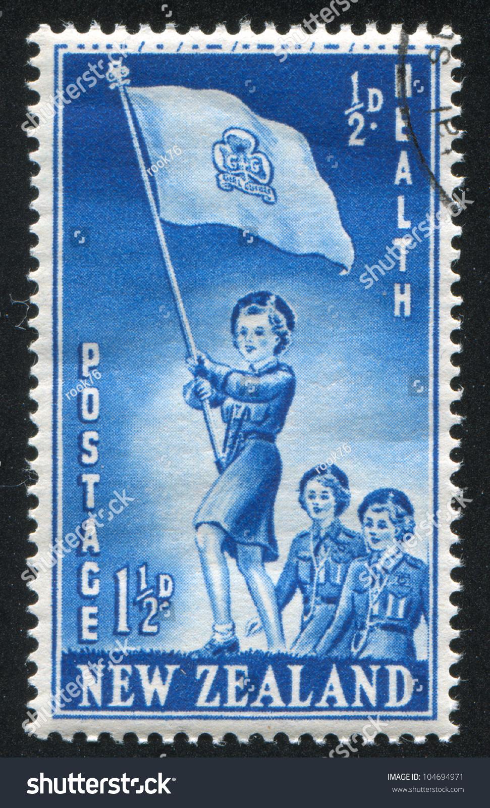 NEW ZEALAND CIRCA 1953 Stamp Printed Stock Photo Edit Now