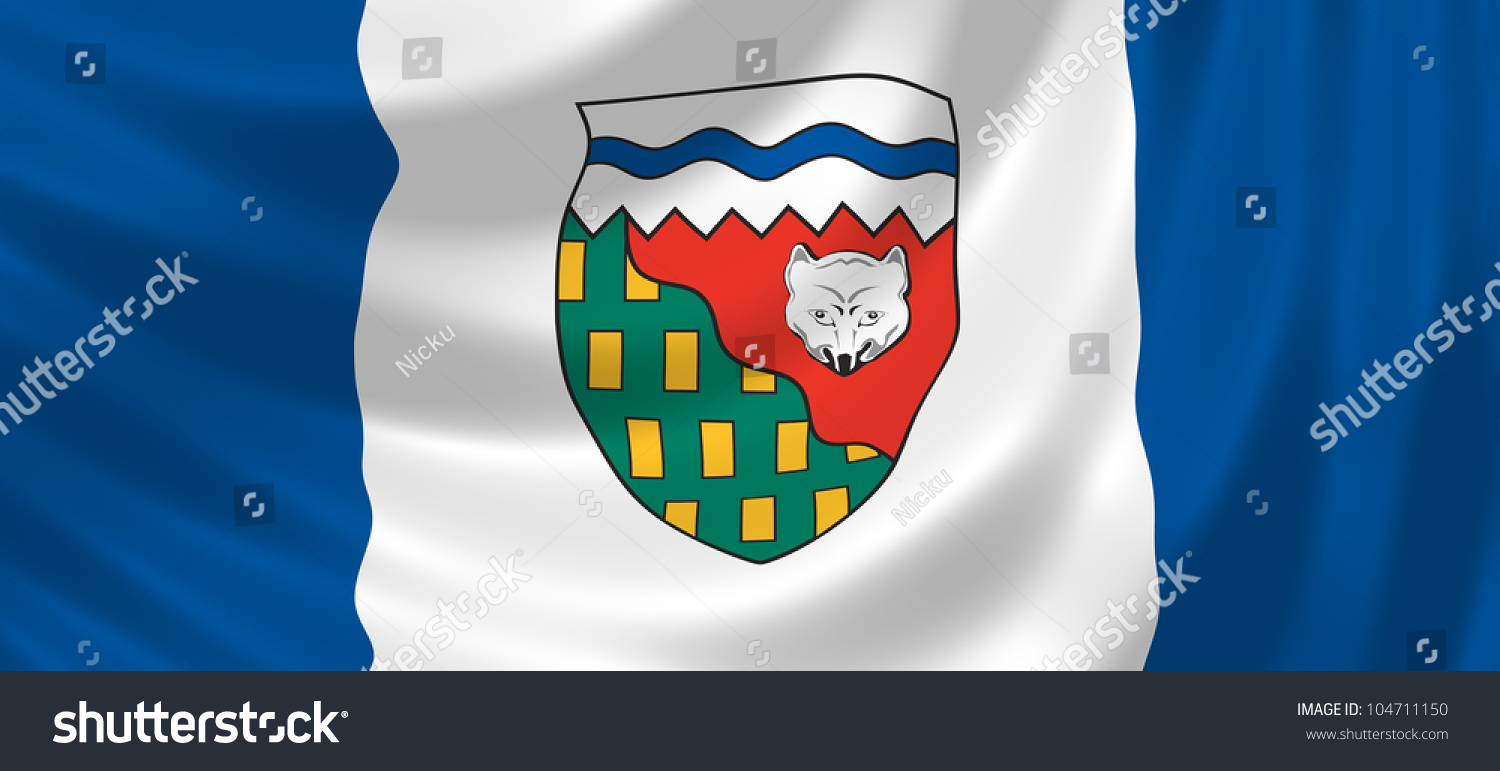 Flag canadian northwest territories waving wind stock illustration flag of canadian northwest territories waving in the wind detail biocorpaavc Choice Image
